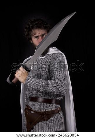 a white warrior greek - stock photo