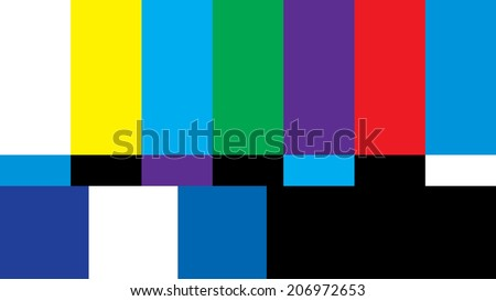 A 16:9 widescreen aspect ratio television screen is off air from broadcasting its shows.