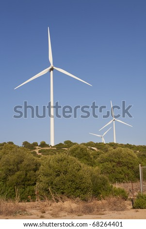 a wind farm to provide electricity in an environmentally friendly manner