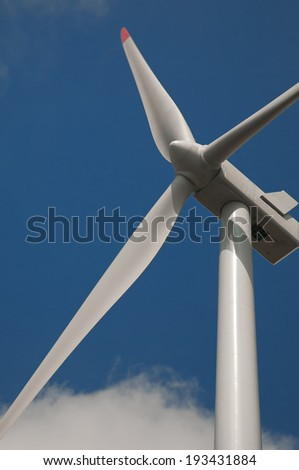 A wind power, propeller and sky - stock photo