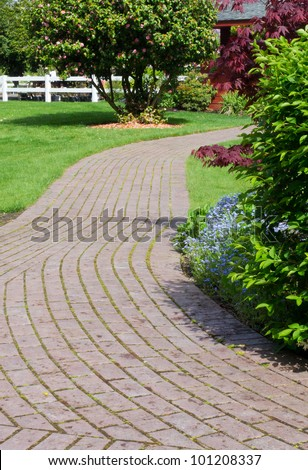 Brick Walkway Stock Images Royalty Free Images Amp Vectors