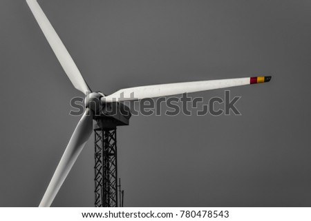 A windmill in black and white