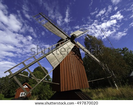 A Windmill on the finnish Island Aland
