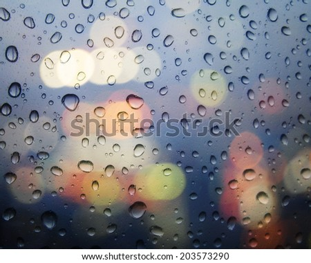 A window and water drop - stock photo