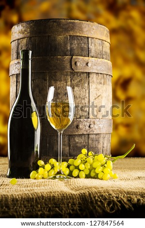 a wine composition - stock photo
