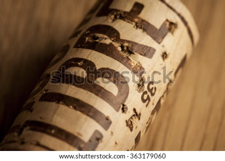 A wine cork with LIBRE on it, expressing the frredom that comes with drinking good wine.