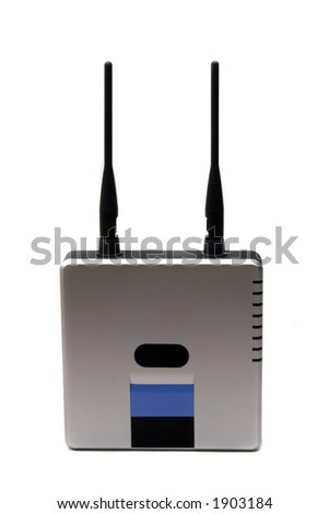 A wireless router integrates a wireless access point , an ethernet switch, and an ethernet router.