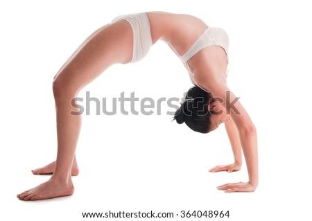 A woman doing bridge exercise - stock photo