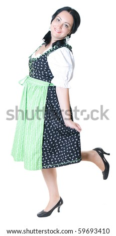 A woman in Bavarian dress