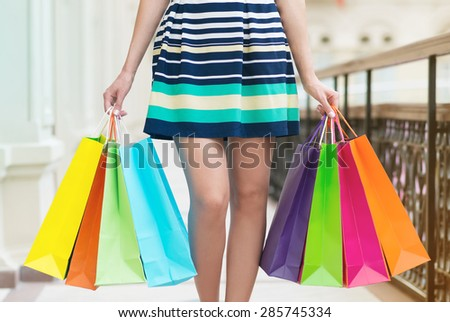 Womans Legs Shopping Bags Stock Photo 73575790 - Shutterstock