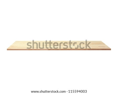 A wooden book shelve isolated against a white background