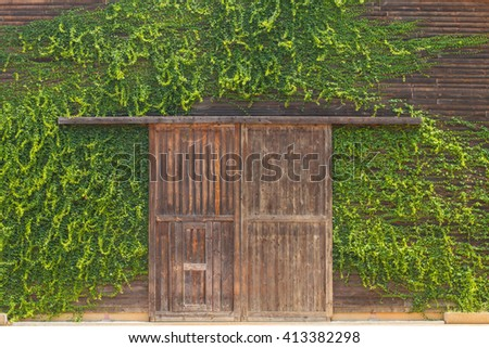 A wooden farm shed/ wooden barn  - stock photo
