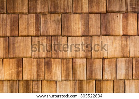 A wooden paneling at a alp hut.