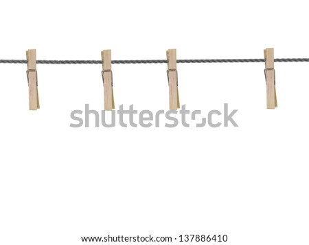 A wooden peg isolated against a white background