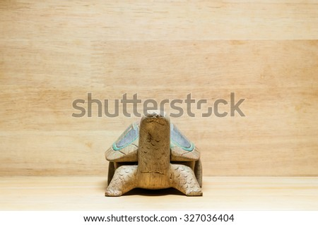 a wooden turtle model toy - stock photo