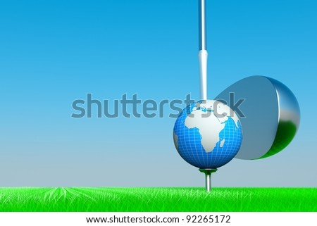 a world golf competition concept - stock photo