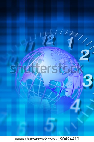 A world of time - stock photo