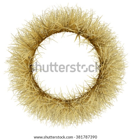 A wreath of dry Golden grass - stock photo