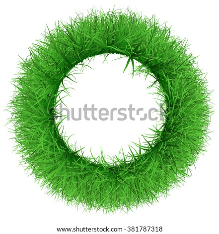 A wreath of lush green grass - stock photo
