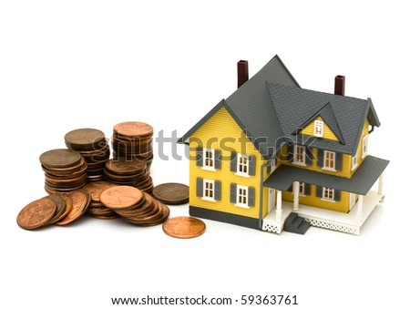 A yellow house with a lot of pennies, Cost of housing