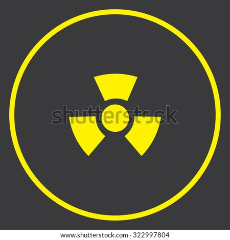 A Yellow Icon in a Circle - Radio Active Round