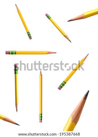 A yellow pencil - stock photo