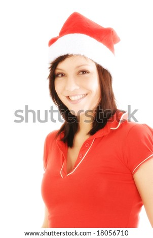 a young and beautiful woman with a smile in her face - stock photo