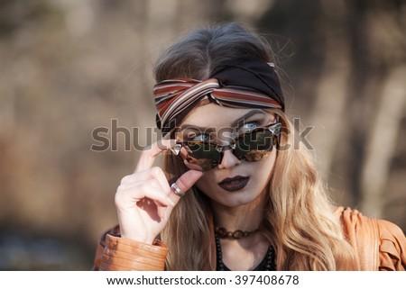 a young beautiful woman - stock photo