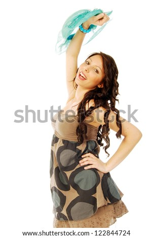 A young brunette all salt and pepper - 090 - stock photo