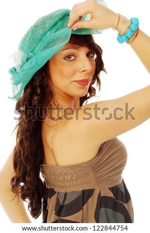 A young brunette all salt and pepper - 097 - stock photo