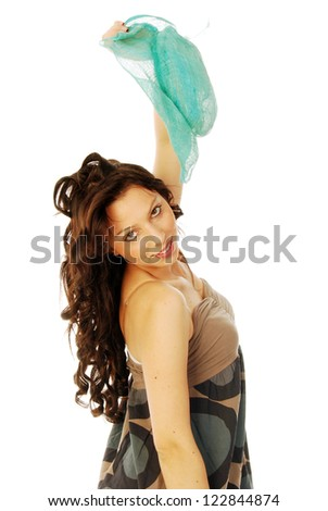 A young brunette all salt and pepper - 110 - stock photo
