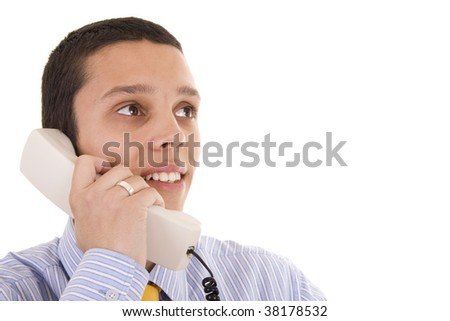 A young business man on phone