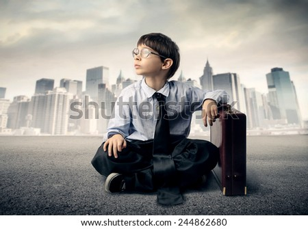 A young businessman  - stock photo
