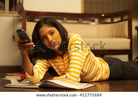 A Young Female Student - stock photo