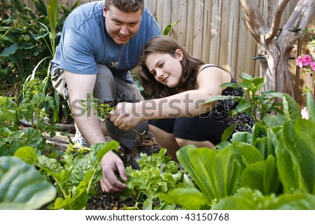 a young girls adventure in the garden learning how to grow her own food.