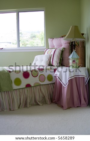 A young girls bedroom - stock photo