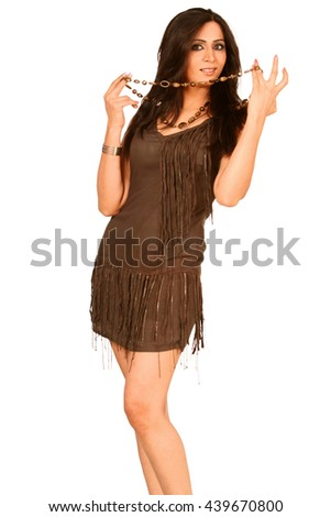 A Young Hot Beautiful Gorgeous Brunette - stock photo