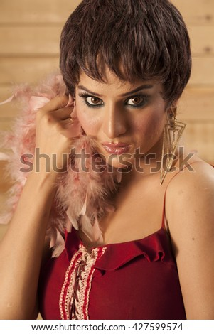 A Young Hot Beautiful Gorgeous Chic - stock photo