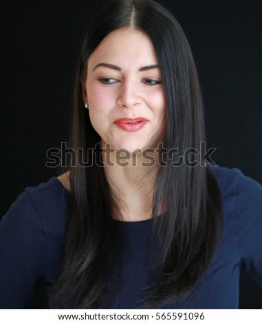 Smug woman