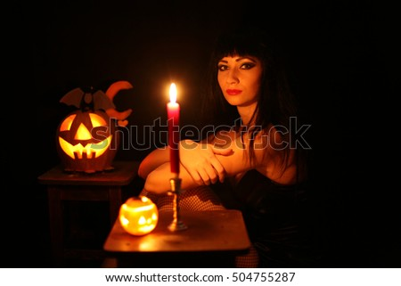 A young woman prepares for Halloween Challenge