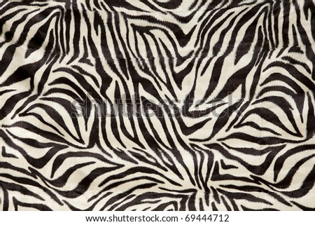a zebra skin  patterned  fur background - stock photo