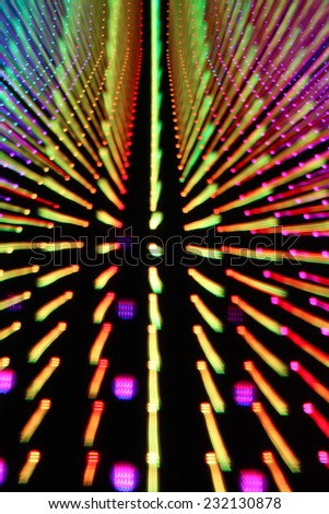 A zooming and streaking Christmas light effect. - stock photo