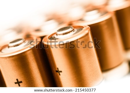 aa batteries closeup on a white background batteries technology power industry
