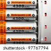 AA batteries rechargeable in accumulator charger - stock photo