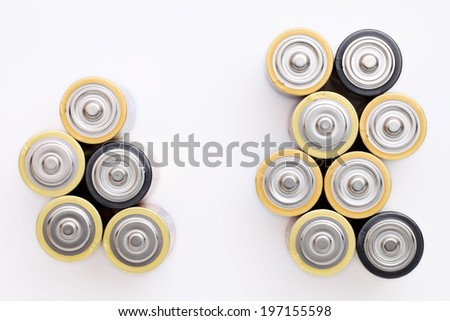 AA  on a white background - stock photo