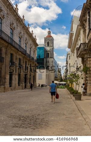 aa Street, Havana, Cuba - stock photo