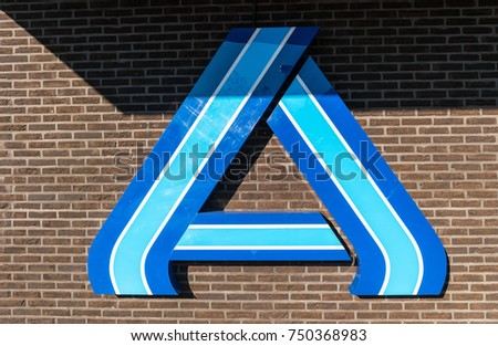 Aachen Germany October 2017 Aldi Sign Stock Photo 750368983