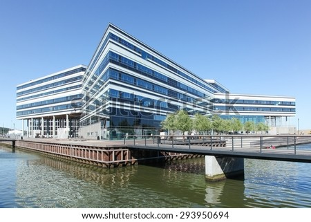 Aarhus, Denmark - July 4, 2015: Beginning in 2007, Aarhus Dockland is currently a large construction site with many buildings already built. Aarhus will be also European capital of culture in 2017.