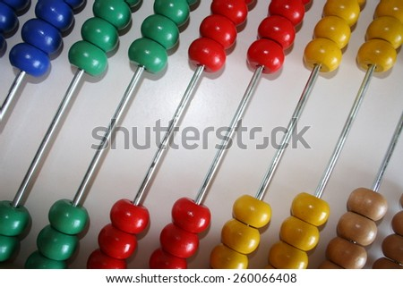 Abacus Detail 2 - stock photo