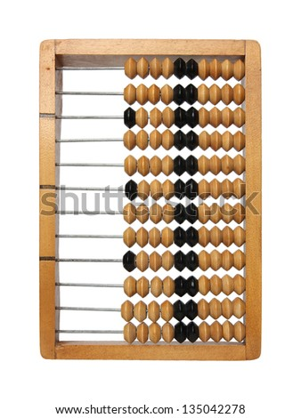 Abacus isolated on a white background.